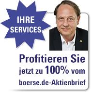 Profitieren Sie jetzt zu 100% vom boerse.de-Aktienbrief